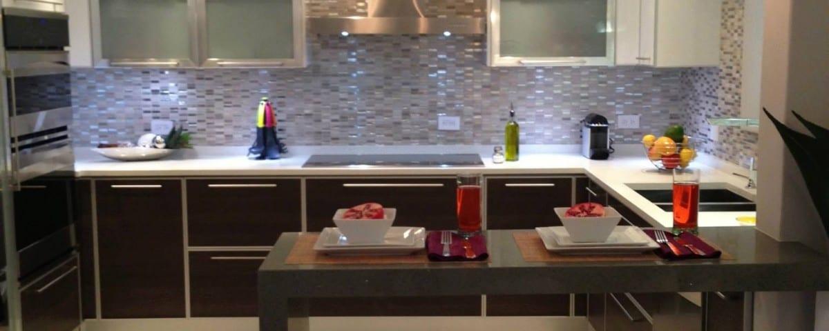 kitchen appliances with ceramic tile flooring